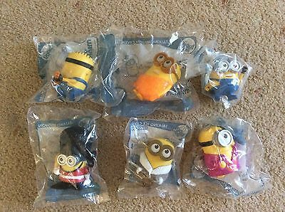 Mcdonalds Happy Meal Toys Minions X 6 New In Packets