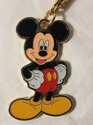 Disney Parks Mickey Mouse Gold Metal Keychain - NEW