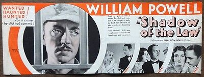 Shadow of the Law 1930 movie herald William Powell Marion Shilling zaz