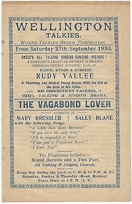 THE VAGABOND LOVER 1929 RUDY VALLEE India Herald