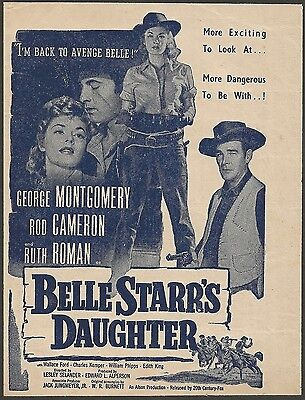 1948 Belle Starr's Daughter herald George Montgomery Rod Cameron