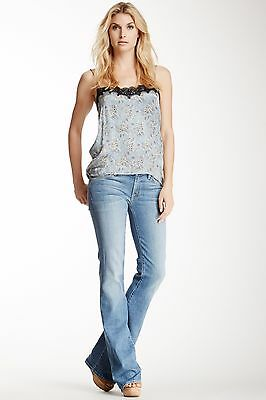 NWT WOMENS 7 FOR ALL MANKIND KIMMIE BOOTCUT LGHT BLUE JEANS SZ: 27x35 MSRP: $198