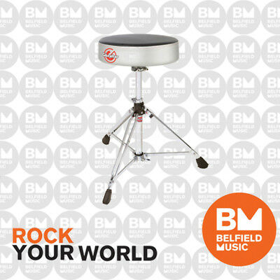 Gibraltar 6608RSW Drum Throne Stool Double Braced Round Style White Sparkle