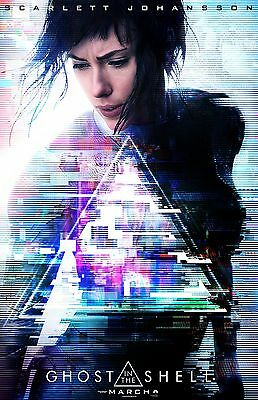 """Ghost In The Shell movie poster - Scarlett Johansson poster - 11"""" x 17"""""""