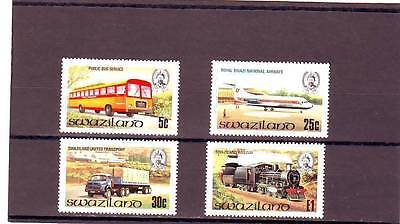 Swaziland - Sg368-371 Mnh 1981 Transport - Bus/lorry/plane/train