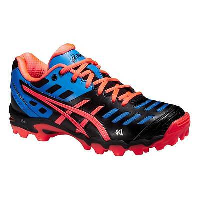 Asics Gel-Hockey Typhoon 2 Womens Hockey Shoes Black/Flash Coral/Jeans 2015