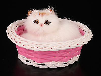 Lovely Simulation Pussy Cat Plush Toys Furnishing Articles Electronic Gifts
