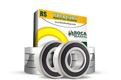 Boca Bearing Company 6X12X4 mm Ball Bearing with Rubber Seals, 10-Pack -