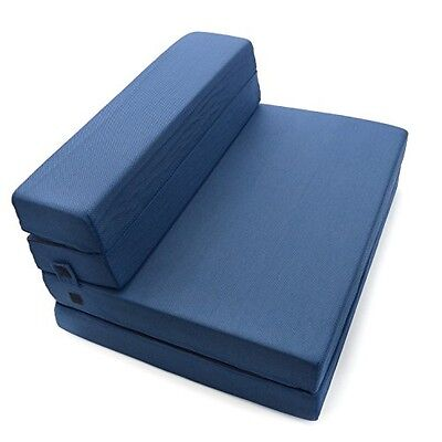 Milliard Tri-Fold Foam Folding Mattress and Sofa Bed for Guests or Floor Mat -