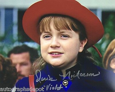 DENISE NICKERSON signed autographed WILLY WONKA photo - REAL/IN-PERSON