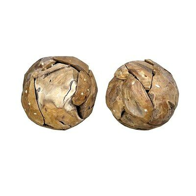 Silkroute OB211 Weathered Wood Round Ball - Small