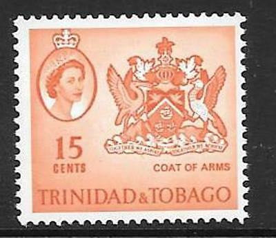 TRINIDAD & TOBAGO SG291a 1964 15c ORANGE  MNH