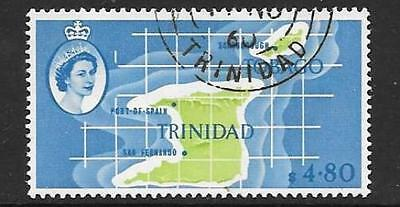 Trinidad & Tobago Sg297 1960 $4.80 Apple Green & Pale Blue Fine Used