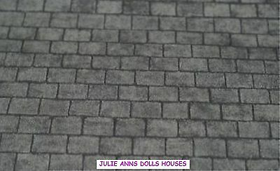 Dolls House Grey Slate Roof Miniature Wall Paper, 12 Th Scale New, Julie Ann