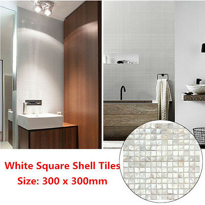 White Square Shell Mosaic Tiles Natural Mother Of Pearl Kitchen Backsplash Tiles