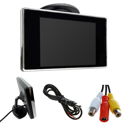 3.5inch Color TFT LCD Car Monitor Screen For DVD Rearview Camera VCD 12V H0Q8