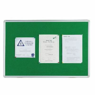 Green Felt Notice Board Aluminium Framed 1200 x 900
