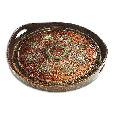 Silkroute PST373-R Cali Round Tray - Red