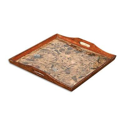 Silkroute PST502 Aaliyah Hand Painted Glass/Wooden Tray
