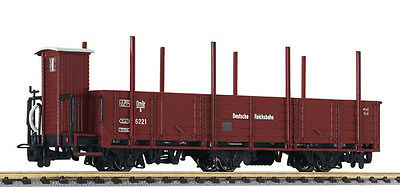 L 245400 Liliput H0e Off. Goods waggon 3-axle with steel ments