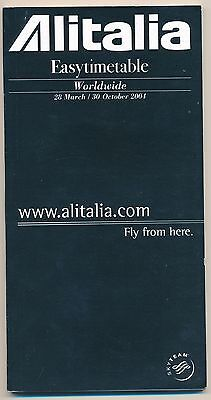 ZC918d ITALY Alitalia 2003/4 timetable Skyteam 148 pages