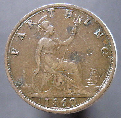 1860 GB Queen Victoria Farthing S.3958