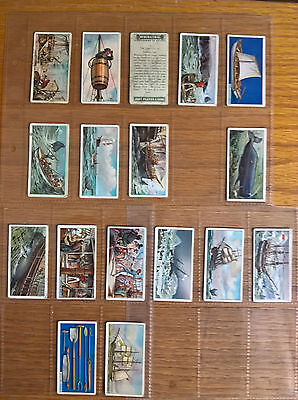 Cigarette cards: Players Player's Whaling part set in sleeves 17/25