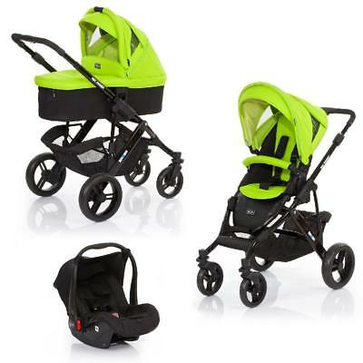 ABC Design Mamba 3-in-1 Travel System (Black & Lime Green) WAS £669!
