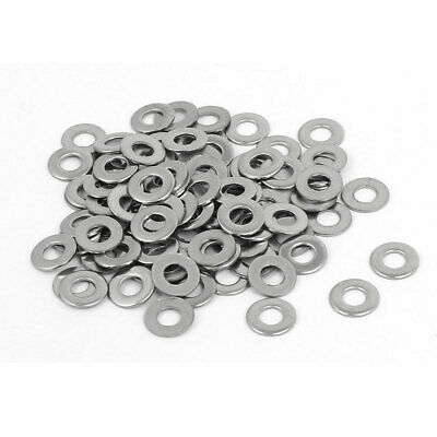 M3 304 Stainless Steel Flat Washers Gaskets Spacers Fastener 100PCS