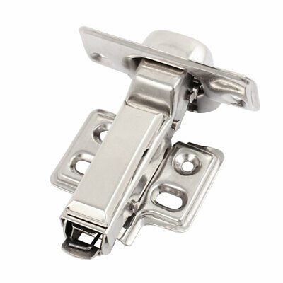 Furniture Buffering Hydraulic Stainless Steel Half Overlay Hinge 0.8mm Thick