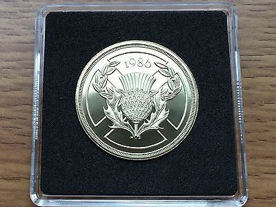 1986 £2 PROOF Coin – Commonwealth Games – Royal Mint Two Pounds – Free Case
