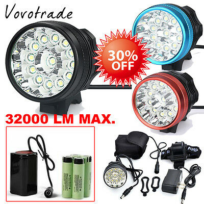 32000LM CREE XM-L T6 LED 18650 Bicycle Cycling Light Waterproof Bright Lamp Lot