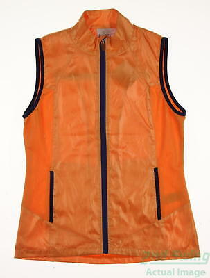New Womens EP Pro Golf Vest Small S Orange MSRP $60