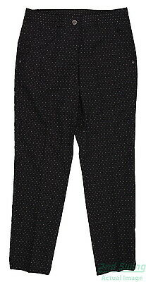 New Womens Puma Lux Dot Pattern Dry Cell Golf Pants Size 4 Black 569085 MSRP$85