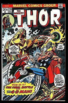 The Mighty Thor #216 Very Nice eye appeal!