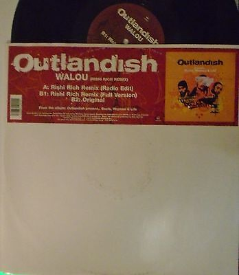 "OUTLANDISH ~ Walou ~ 12"" Single PS"