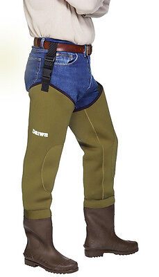 Special Clearance Daiwa 4Mm Neoprene Thigh Waders Size 7 Cleated Sole Denh7
