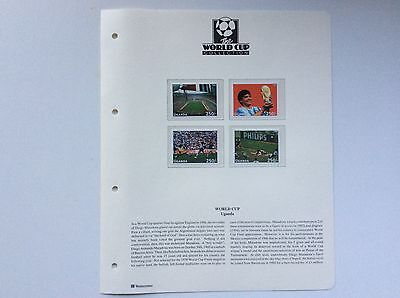 4 x UGANDA WORLD CUP FOOTBALL STAMPS OF 1986 WORLD CUP.