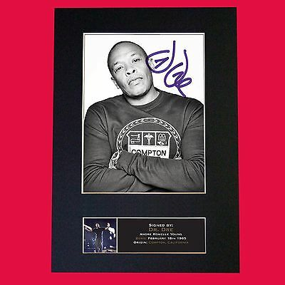 DR DRE Signed Autograph Mounted Photo Reproduction PRINT A4 614