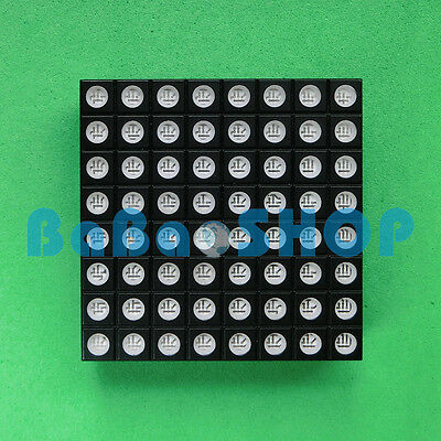 RGB 8x8 48x48mm Colorful Full Color LED Dot Matrix Display Square Common Anode