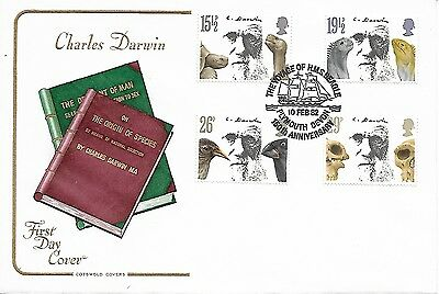GB 1982 Charles Darwin Cotswold FDC special cancel