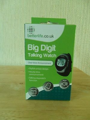 Big Digit Talking Watch. New And Boxed