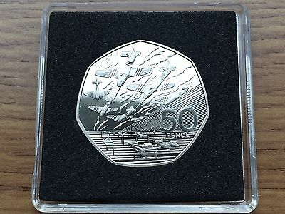 1994 50p PROOF Coin - D-Day - Royal Mint Fifty Pence 50 - Free Case