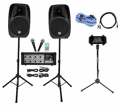 "Rockville Dual 15"" Android/iphone/ipad/Laptop/TV Youtube Karaoke Machine/System"