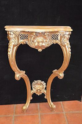 Table Console Patine Style Louis Xv