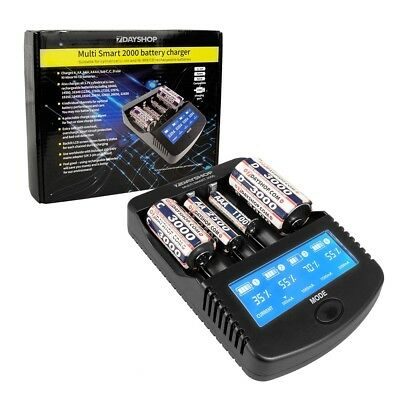 7dayshop Pro Series Intelligent LCD NiMH Li-Ion Battery Charger MultiSmart 2000