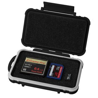 Universal Memory Card Case and Accessory Storage Case SHOCK and IPX6 WATERPROOF