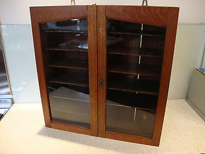 Antique Oak Display Cabinet - Very Good Condition