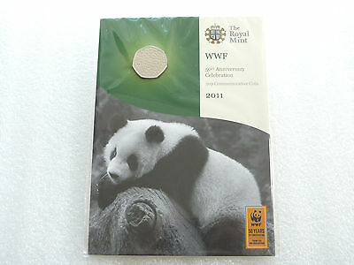 2011 Royal Mint World Wildlife WWF 50th Anniversary BU 50p Fifty Pence Coin Pack