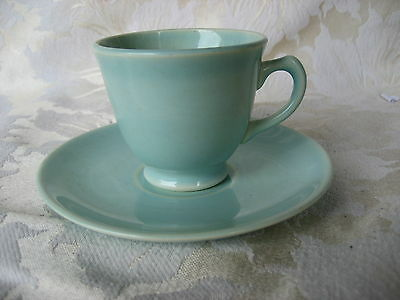 Fantastic Luray Surf Green Demitasse Cup & Saucer